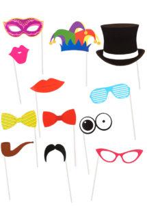 kit Photo Booth, moustaches pour photos, accessoire déguisement photos, accessoires déguisements, Kit Photo Booth, Accessoires Colorés