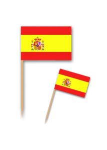 pics apéro drapeaux Espagne, pics apéritifs drapeaux de l'Espagne, coupe du monde, Pics Drapeaux de l'Espagne