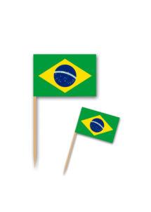 pics à apéro drapeau du brésil, pics drapeaux brésiliens, Pics Drapeaux du Brésil