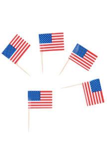 pics drapeaux américains, décos américaines, décorations états unis, vaisselle drapeau américain, Pics Drapeaux Américains