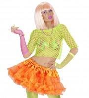 tutu déguisement pour femme, tutu orange, jupon orange, jupon femme, tutu femme déguisement, déguisement tutu, accessoire tutu déguisement, accessoire déguisement tutu orange fluo, tutu orange fluo Tutu Jupon, Années 80, Orange
