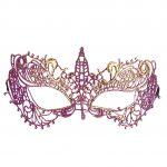 loup en dentelle, loup vénitien, masque vénitien Loup Dentelle, Purple et Or
