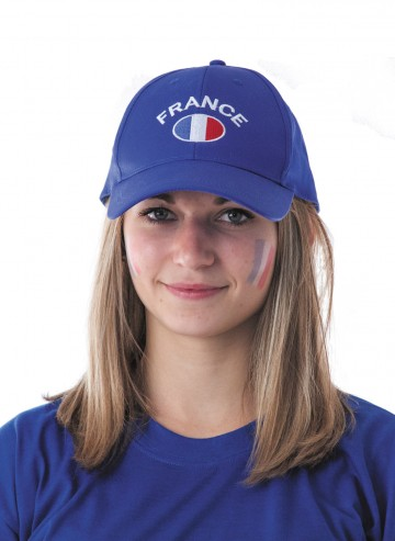 casquette euro 2016, accessoires supporter france, accessoires euro 2016, casquette équipe de france, casquette france, drapeau france, boutique de supporter, euro 2016 Casquette de Supporter France, Bleu