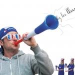 vuvuzela, accessoires euro 2016, trompe de stade, accessoires de supporter, boutique du supporter, corne de stade, supporter france, tricolore Vuvuzela de Supporter