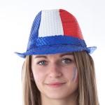 chapeaux de supporter france, euro 2016, chapeau de supporter équipe de france, accessoires euro 2016, accessoires supporters france, boutique supporters, chapeaux paris Chapeau de Supporter France, Sequins Bleus Blancs Rouges