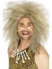 perruque pour homme, perruque pas chère, perruque de déguisement, perruque homme, perruque homme des cavernes, perruque cromagnon, perruque blonde Perruque d'Homme des Cavernes, Blonde