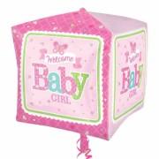 ballon hélium, ballon naissance fille, ballon bébé fille Ballon Aluminium, Naissance Fille, Welcome Baby Girl