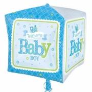 ballon hélium, ballon naissance, ballon garçon, ballon babyshower Ballon Aluminium, Naissance Garçon, Welcome Baby Boy