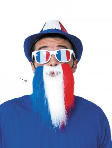 barbe de supporter france bleu blanc rouge aux feux de la f te paris. Black Bedroom Furniture Sets. Home Design Ideas