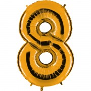 ballon chiffre, ballon alu chiffre, ballon chiffre 8 or Ballon Aluminium, Chiffre 8, Or