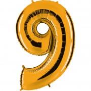 ballon chiffre, ballon alu chiffre, ballon chiffre 9 or Ballon Aluminium, Chiffre 9, Or