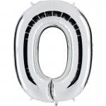ballon chiffre, ballon alu chiffre, ballon chiffre zéro argent Ballon Aluminium, Chiffre 0, Argent
