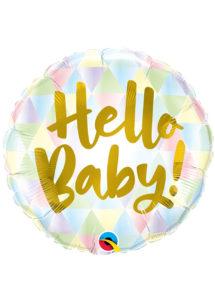 ballon hélium, ballon baby shower, ballon naissance,, Ballon Baby Shower, Hello Baby, en Aluminium