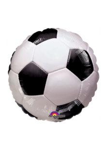 ballon football, ballon hélium foot, ballon aluminium, ballon de football, Ballon de Foot Noir et Blanc, en Aluminium