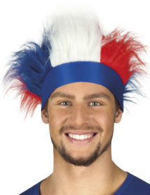 bandeau de supporter france, accessoires euro 2016, accessoire de supporter France, Euro 2016, boutique du supporter, drapeaux france, drapeau france, tricolore, Bandeau France avec Cheveux