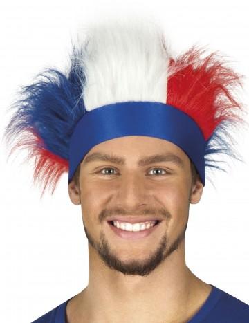 bandeau de supporter france, accessoires euro 2016, accessoire de supporter France, Euro 2016, boutique du supporter, drapeaux france, drapeau france, tricolore Bandeau France avec Cheveux