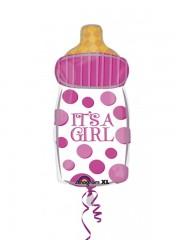 ballon hélium, ballon de naissance, ballon fille, ballon baby shower, ballon bébé fille Ballon Aluminium, Naissance, Biberon It's a Girl