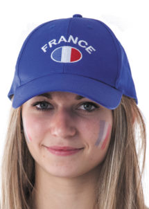 casquette france, accessoires supporter france, accessoires euro 2016, casquette équipe de france, casquette france, drapeau france, boutique de supporter, mondial football, Casquette de Supporter France, avec Drapeau