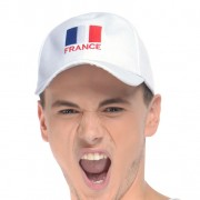 casquette france, supporter euro 2016, accessoires de supporter france, accessoires euro 2016, accessoires france euro 2016, boutique supporter Casquette de Supporter France, Blanc