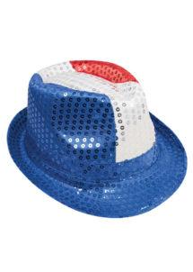 chapeaux france, chapeau de supporter, accessoires france, accessoires euro 2021, boutique supporters, supporters euro football, chapeau mondial football, chapeaux tricolores, france, Chapeau de Supporter France, Sequins, Bleu Blanc Rouge