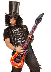 guitare électrique gonflable, guitare déguisement, accessoire rock déguisement, accessoire chanteur déguisement, fausse guitare électrique déguisement, Guitare Electrique Gonflable, Flammes