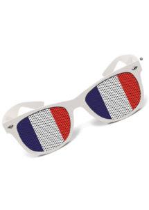 lunettes de déguisement, lunettes france, accessoire supporter france, coupe du monde, lunettes france, lunette drapeau français, Lunettes Drapeau Français