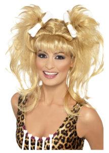 perruque femme des cavernes, perruque avec os, perruque préhistoire, perruque cromagnon, perruques paris, Perruque Femme des Cavernes, Blonde