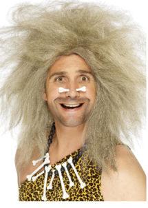perruque cromagnon, perruque homme des cavernes, perruques préhistoire, perruques hommes, perruque blonde, Perruque d'Homme des Cavernes, Blonde