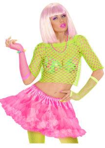 tutu déguisement pour femme, tutu rose, jupon rose, jupon femme, tutu femme déguisement, déguisement tutu, accessoire tutu déguisement, accessoire déguisement tutu rose fluo, tutu rose fluo, Tutu Rose, Jupon Années 80