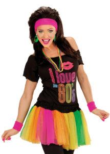 tutu multicolore, tutu fluo, accessoire déguisement années 80, accessoire années 80 déguisement, accessoire fluo, accessoire fluo déguisement, Tutu Fluo Multicolore, Années 80