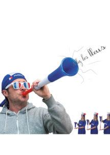 vuvuzela, accessoires euro 2016, trompe de stade, accessoires de supporter, boutique du supporter, corne de stade, supporter france, tricolore, Vuvuzela de Supporter