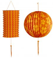 lampions, lampion de jardin, lampion blanc, lampions, décorations jardin Lampion Duo, Orange et Jaune