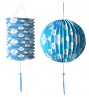 lampions, lampion de jardin, lampion blanc, lampions, décorations jardin Lampion Duo, Bleu et Blanc