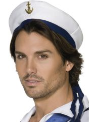 casquette de marin, casquette marine, accessoires marins, accessoires capitaine de la marine Casquette de Marin, Ancre et Rubans