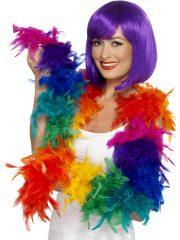 boa, boa de déguisement, boa années 30, boas charleston, boa années 20, boa années folles, boas multicolore, boa multicolore, boa en plumes multicolores, boas en plumes arc en ciel Boa en Plumes Multicolores