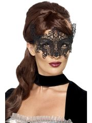 masque vénitien, loup vénitien, masque en dentelle, loup noir en dentelle, masque vénitien déguisement, déguisement vénitien masque, loup vénitien déguisement femme, déguisement vénitien, masque pour soirée vénitienne, masque carnaval de venise paris Loup Dentelle Arabesques, Noir