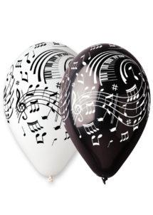 ballons hélium, ballons de baudruche, ballon latex, ballons décorations, ballons notes de musique, Ballons Notes de Musique, en Latex, X 10