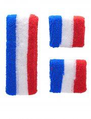 accessoire de supporter france, bandeaux sport france, euro 2016, accessoires euros 2016, accessoires pour supporter france Kit Bandeau et Poignets, France