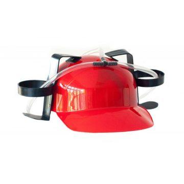 casque bière, casque boissons, casquette porte canettes, casques humour, casques pailles Casque Boissons, Rouge
