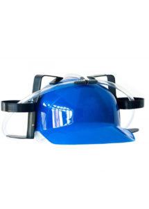 casque bière, casque boissons, casquette porte canettes, casques humour, casques pailles, Casque Boissons Porte Canettes, Bleu