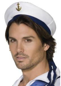 casquette de marin, casquette marine, accessoires marins, accessoires capitaine de la marine, Casquette de Marin, Ancre et Rubans