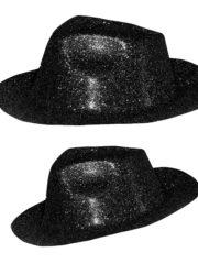 chapeaux à paillettes, chapeaux borsalino, chapeaux de fête, chapeaux paris, chapeaux pas cher, chapeaux années 30 Chapeau Borsalino Paillettes, Noir