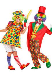 déguisement couple clowns, déguisement de couples, déguisement de clown homme et femme Déguisement Couple de Clowns