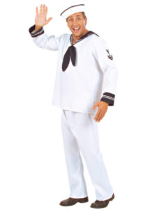 déguisement de marin homme, costume de marin, déguisement de matelot, costume de la marine, déguisement marine pour homme, Déguisement de Marin, Matelot Blanc