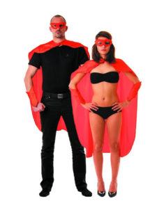 accessoire héros, accessoire de super héros, kit de super héros, cape de héros, accessoire déguisement héros, accessoire super héros déguisement, Kit de Héros, Rouge