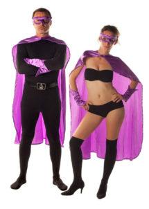 accessoire héros, accessoire de super héros, kit de super héros, cape de héros, accessoire déguisement héros, accessoire super héros déguisement, Kit de Héros, Violet