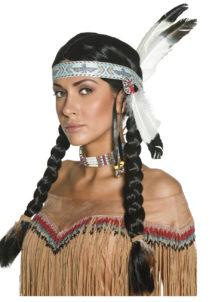 perruque femme, perruque paris, perruque d'indien, perruque d'indienne, perruque de déguisement d'indien, perruque de déguisement d'indienne, Perruque d'Indienne, Tresses, Noire