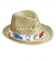 chapeau en paille, chapeau hawaïen, chapeau hawaï, chapeau borsalino paille, chapeau paris Chapeau de Paille Beach Boy Hawaï
