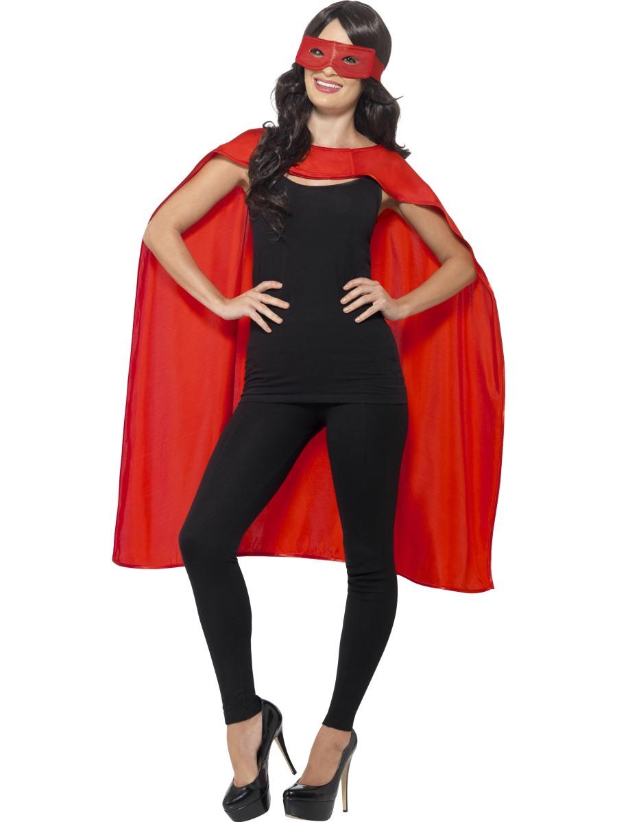 kit de super h ros cape et masque rouge aux feux de la f te paris. Black Bedroom Furniture Sets. Home Design Ideas