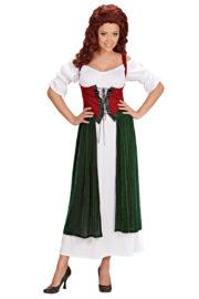 déguisement médiéval femme, costume médiéval femme, déguisement moyen âge pour femme, robe médiévale déguisement, déguisement d'aubergiste femme, costume aubergiste femme, costume moyen age femme Déguisement Médiéval, Aubergiste